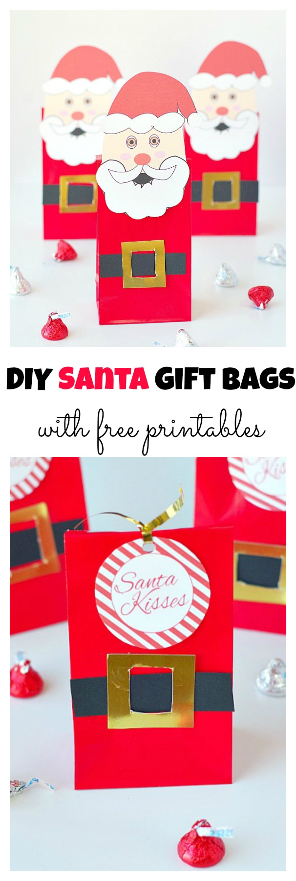 DIY Santa Gift Bags with free printables