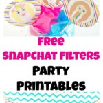 Free Snapchat Party Printables