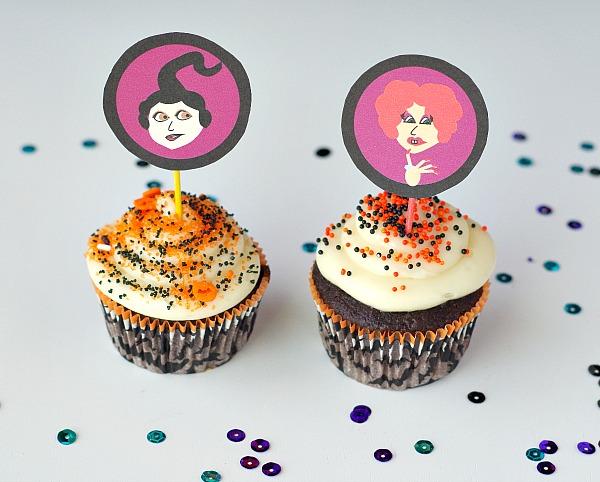 Hocus Pocus cupcake toppers