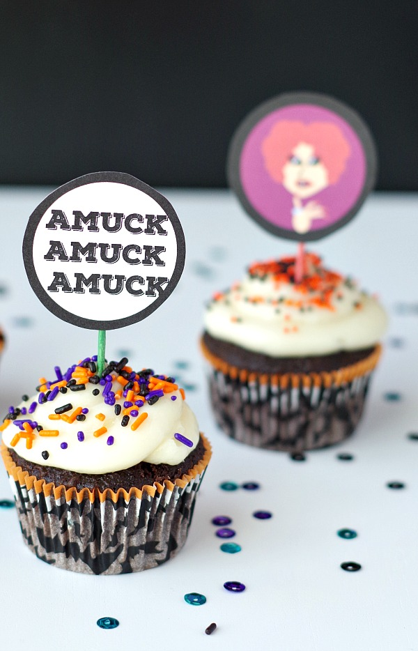 amuck cupcake toppers