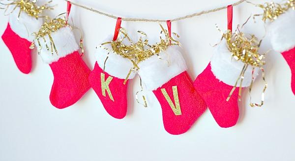 mini stocking garland