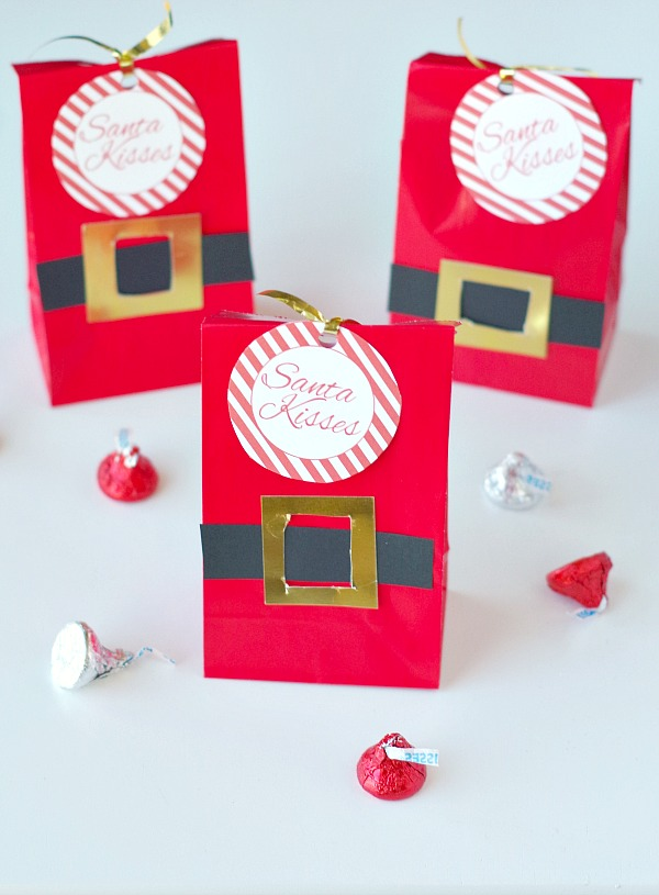 Kisses Santa gift bag diy