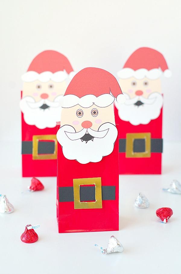 easy cute Santa gift bags