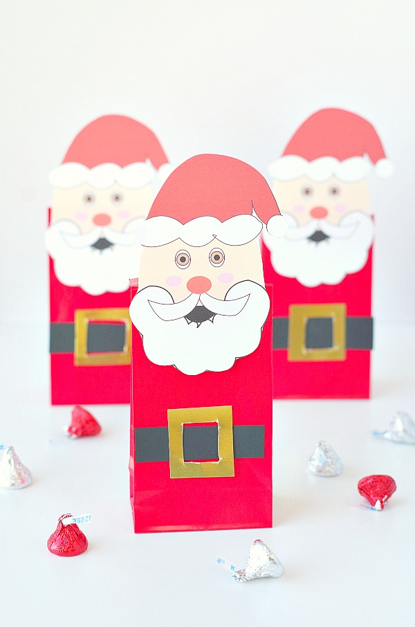 DIY Free Printable Santa Gift Bag