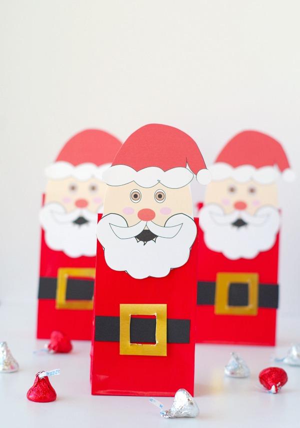 Santa gift bags with free printable