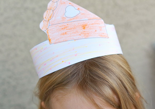 Pie Coloring Thanksgiving Hat