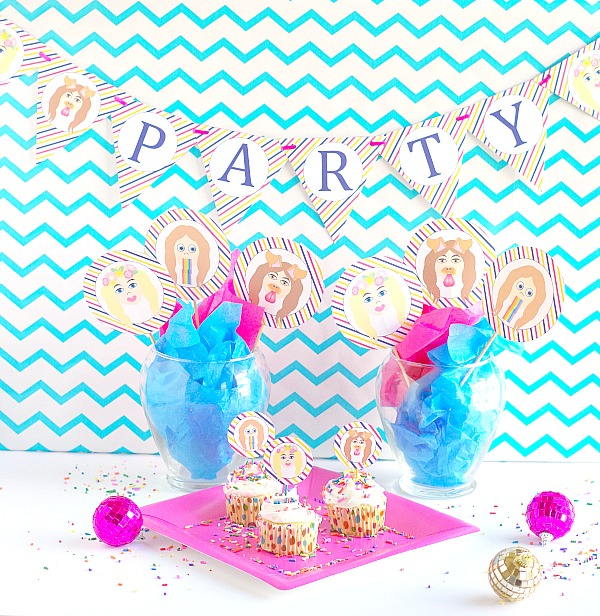 Snapchat party decorations free printables