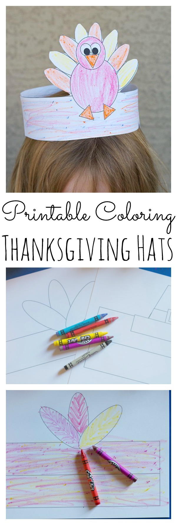 Printable Coloring Thanksgiving Hats