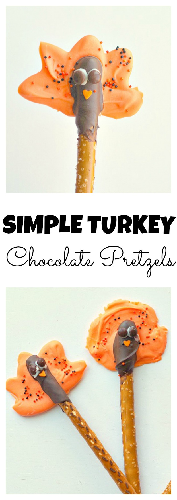 Simple Turkey Chocolate Pretzels