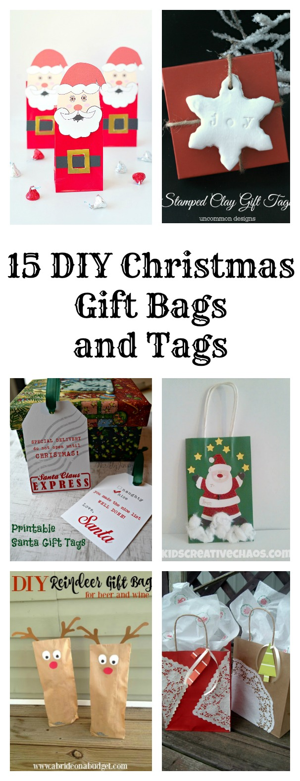 DIY Christmas Gift Bags and Tags