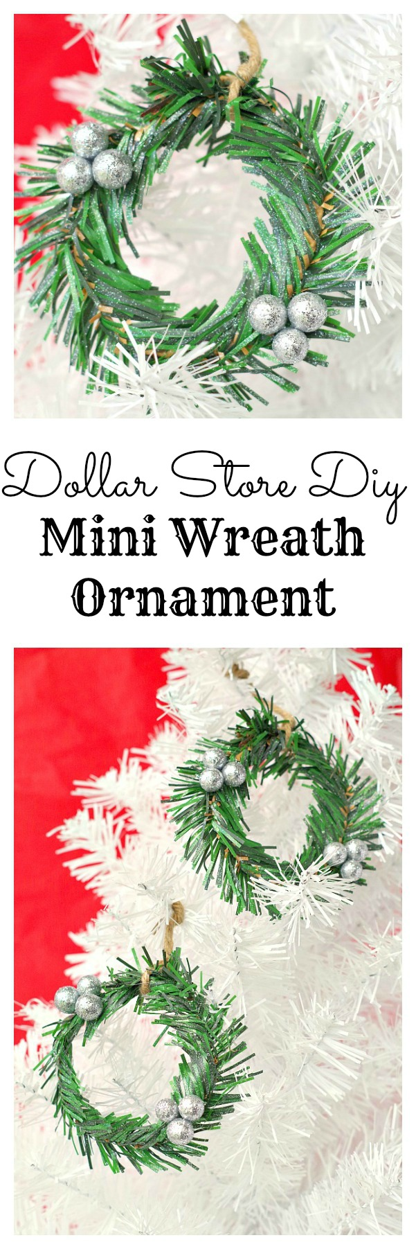 DIY Mini Wreath Ornmanet