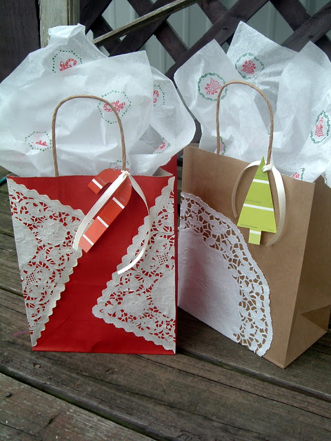 Diy christmas gift bags val event gal Country christmas gifts to make
