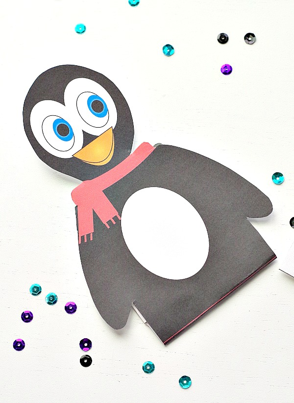 penguin gift card holder