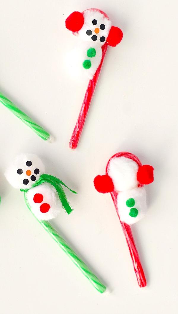 Snowmen candy cane diy