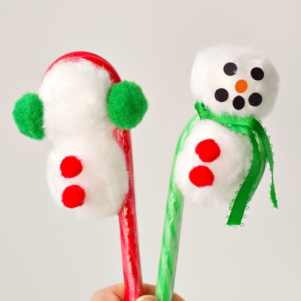 Snowman candy canes