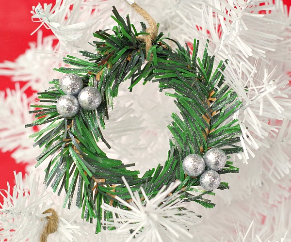 sparkly little wreath ornament
