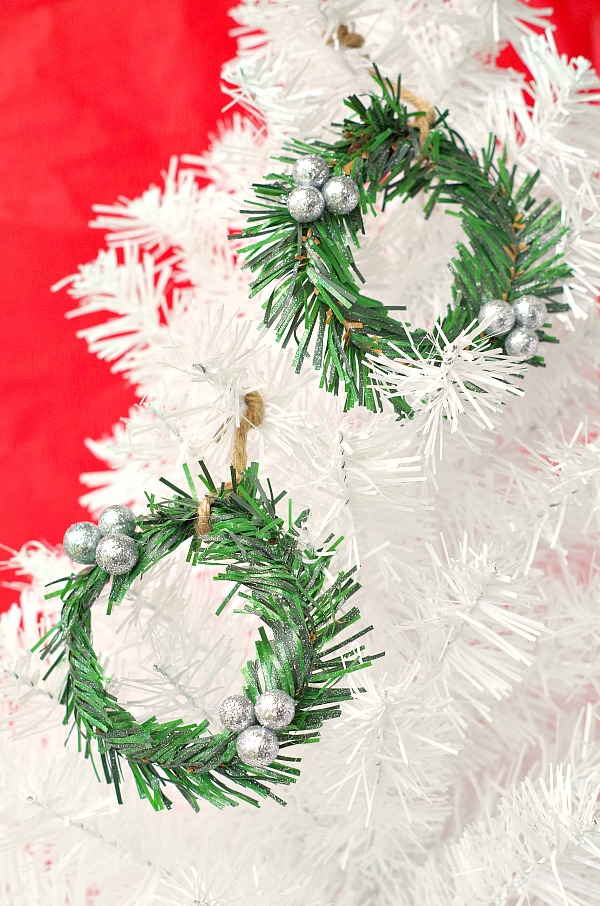 Dollar Store DIY Mini Wreath Ornaments