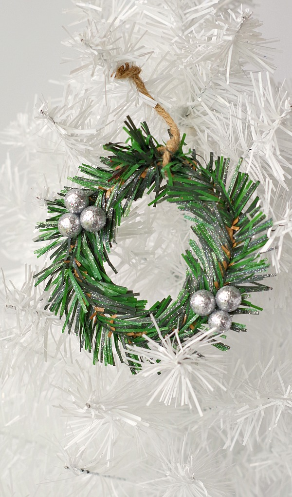 Dollar Store Tiny Wreath Ornament