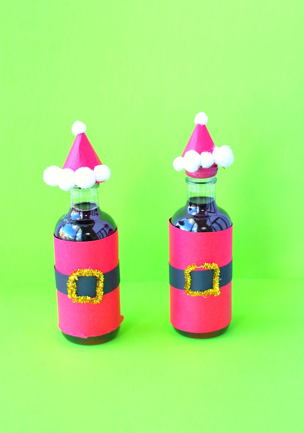 Santa wine bottle gifts