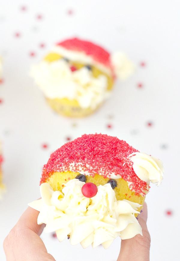 Easy Santa Cupcake
