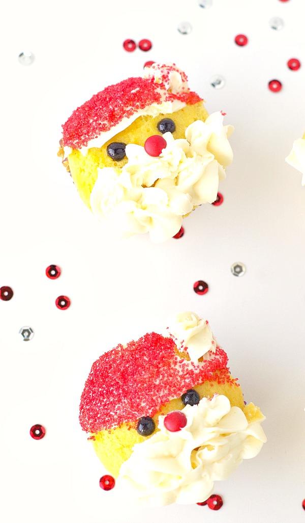 Cute Santa Cupcakes