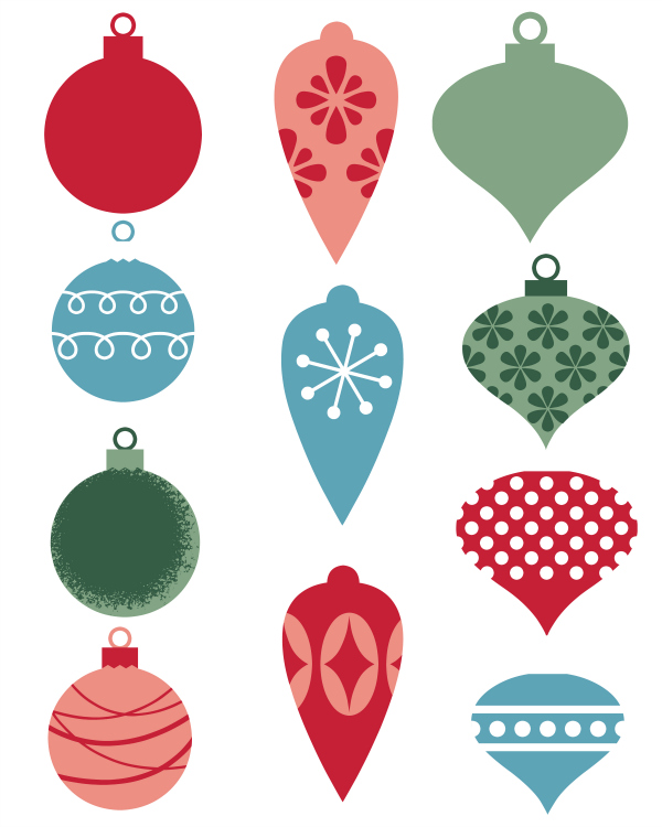 Adorable image for christmas ornaments printable