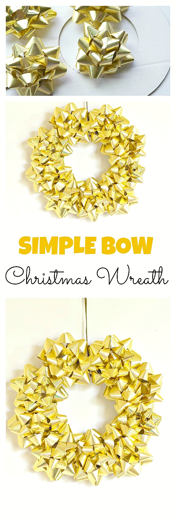 Simple Bow Christmas Wreath