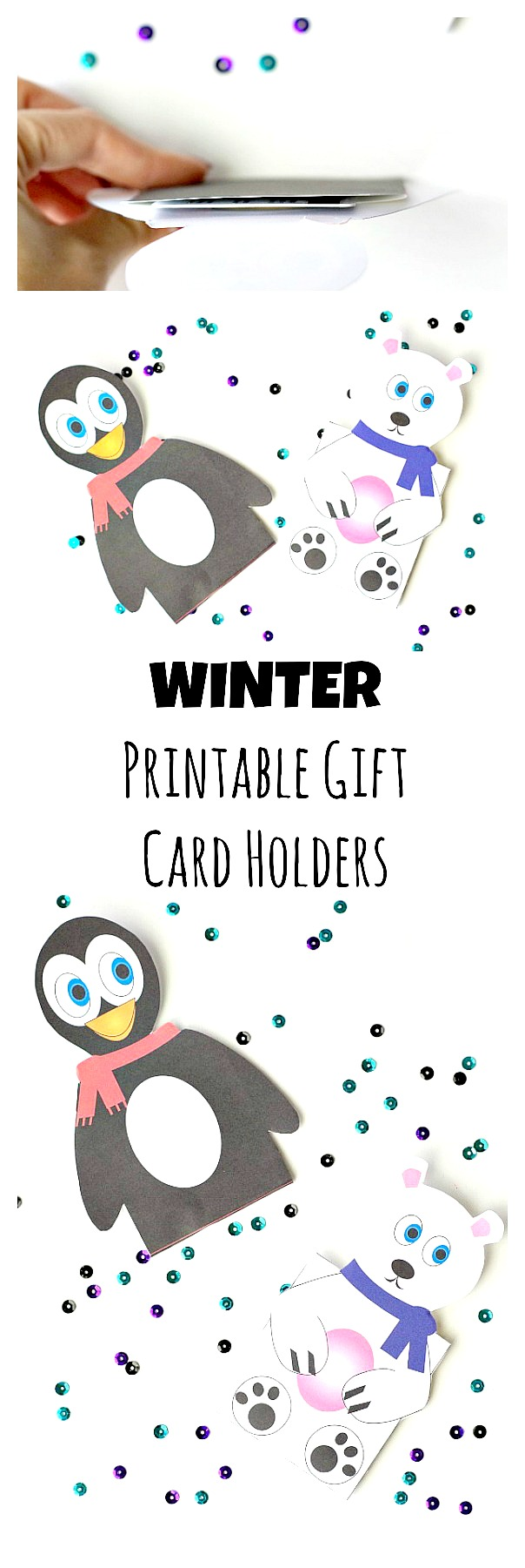 Printable Winter Gift Card Holders