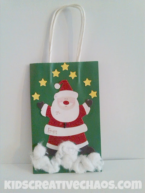 Diy christmas gift bags val event gal for Bag decoration ideas