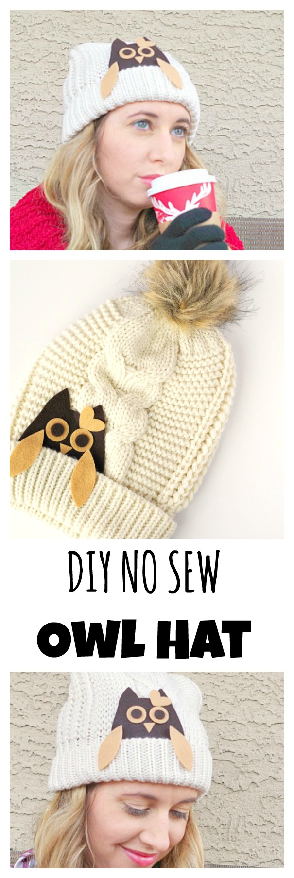 DIY No Sew Owl Hat