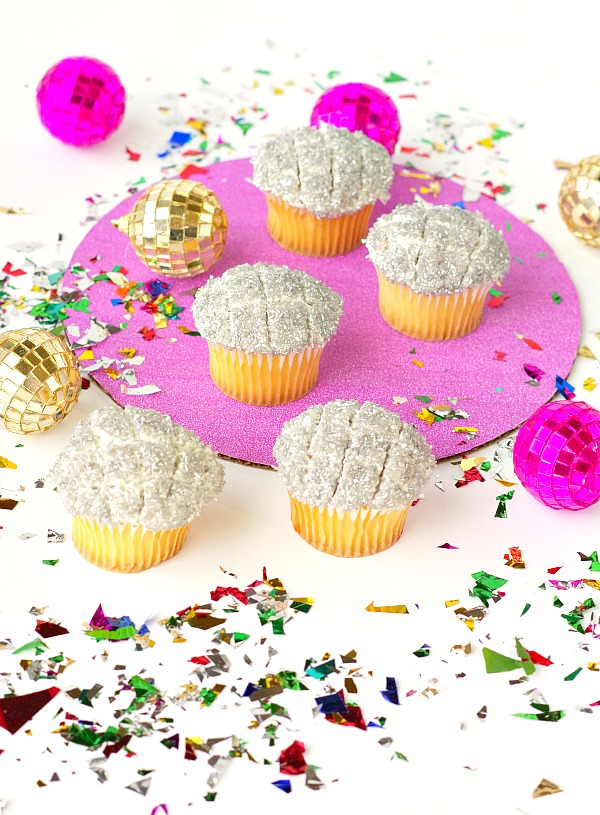 New Years Disco Cupcakes