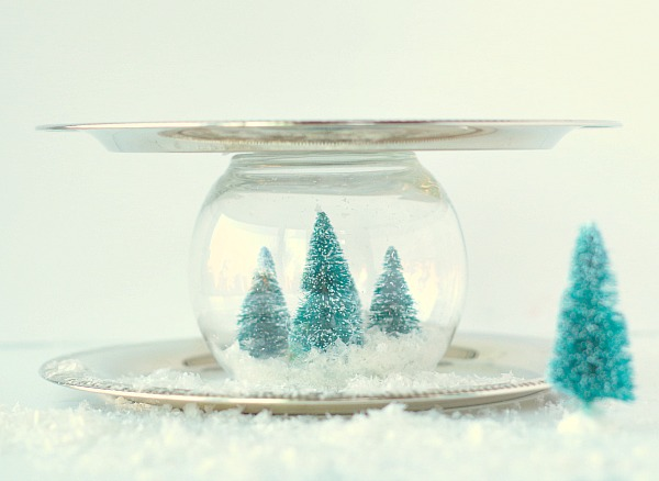 Snow Globe Serving Tray for parties
