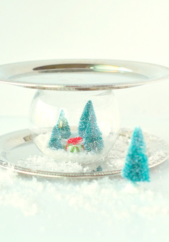 Fun Tray with Snow Globe inside