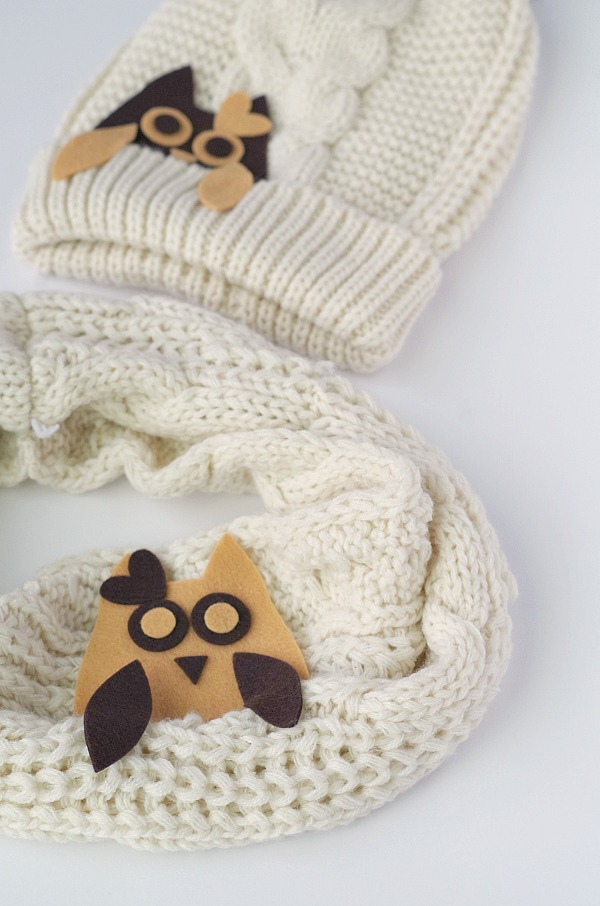 DIY owl scarf and hat
