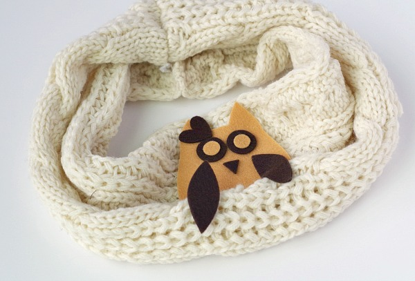 Cute little owl in a scarf