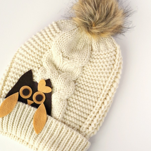slouchy owl hat