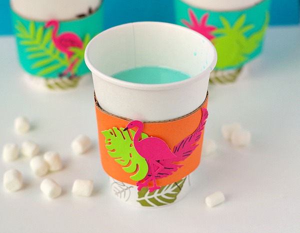 Tropical Cup and hot chocolate