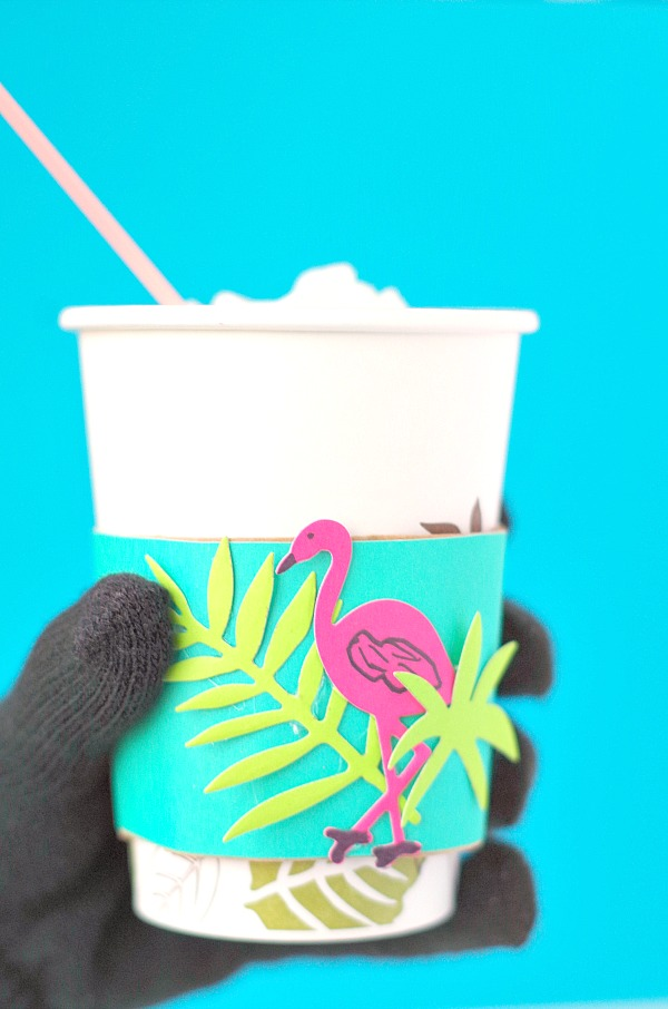 Tropical Flamingo DIY Drink Sleeve
