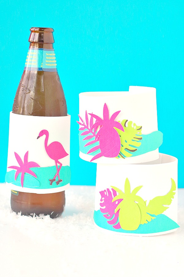 Tropical Vibes DIY Drink Koozies