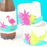 Tropical DIY Drink Koozies