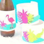 Tropical DIY Drink Koozies