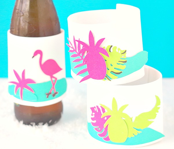 Tropical Drink Koozies DIY