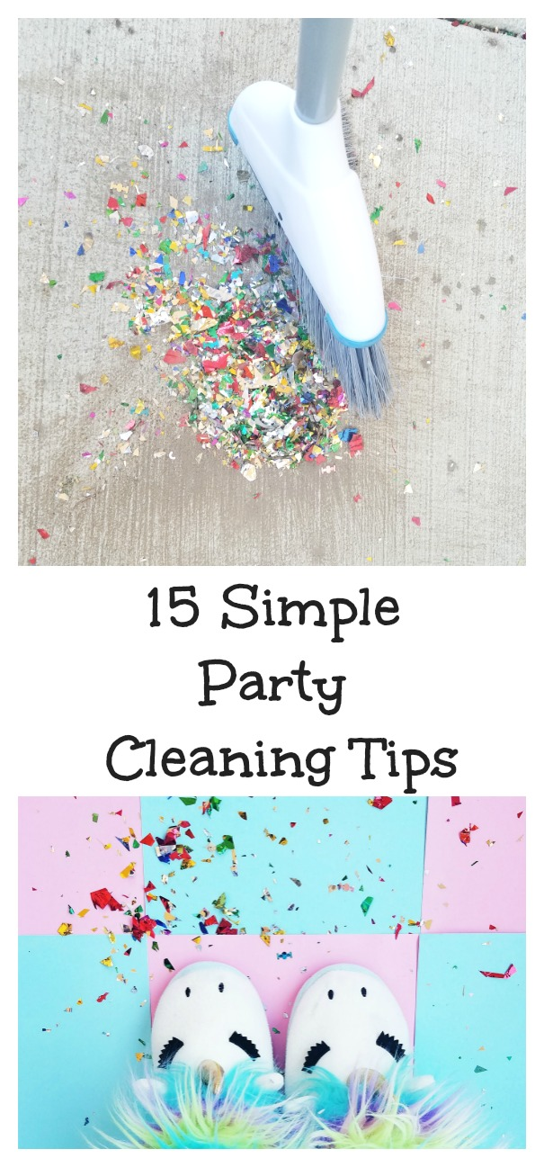 15 Simple Party Cleaning Tips!