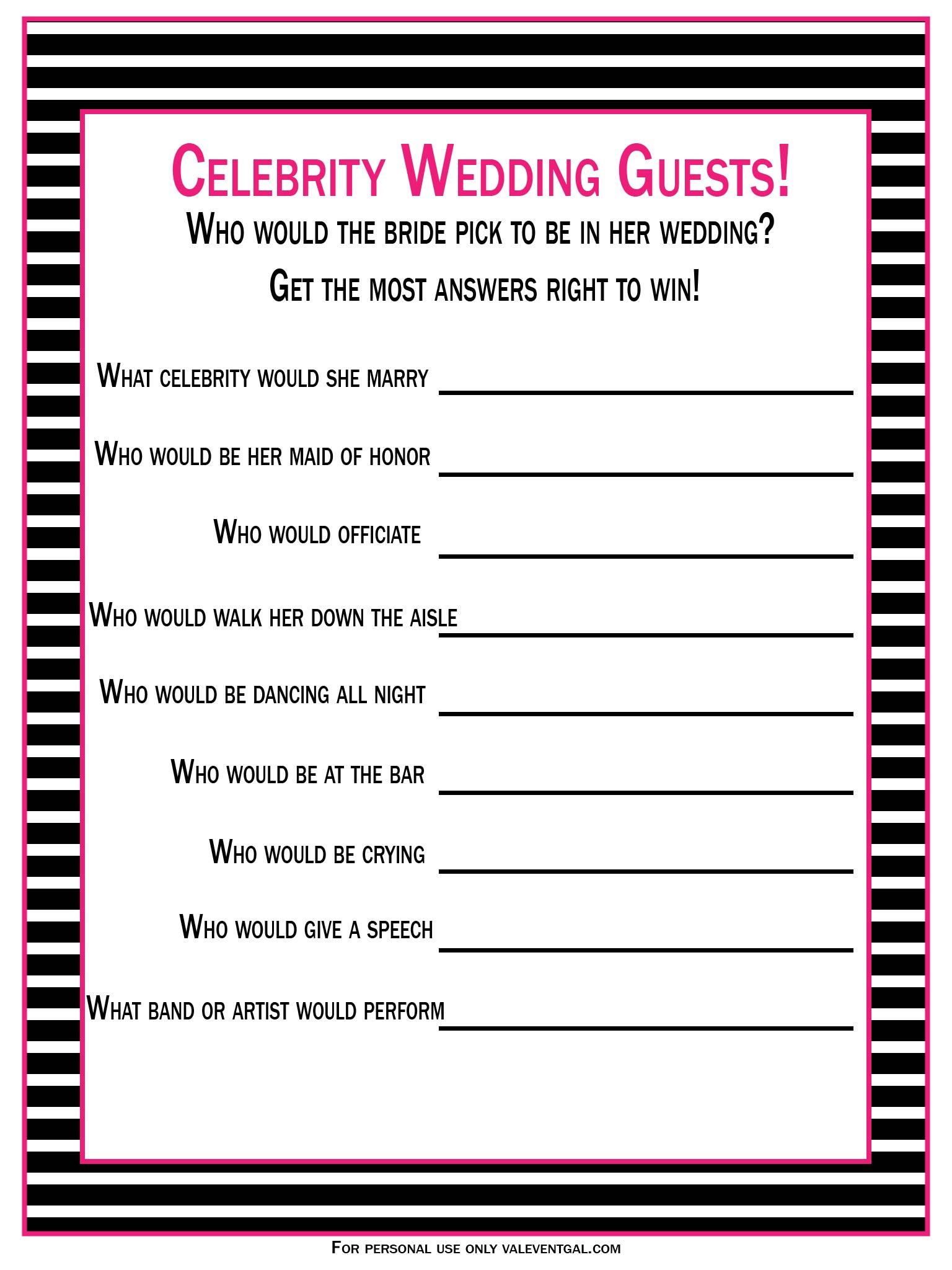 celebrity wedding guests game 01
