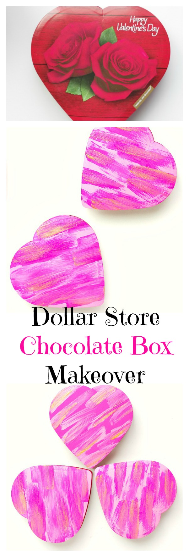 Decorated Dollar Store Chocolate Box Gifts