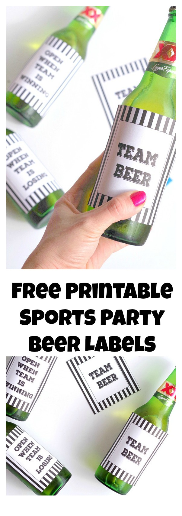 Free Printable Sports Party Beer Labels