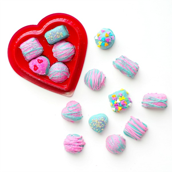 Make gorgeous colorful chocolates from dollar store chocolates