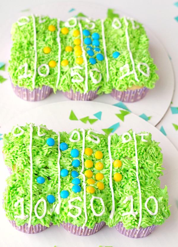 Football Field Cupcake Cakes