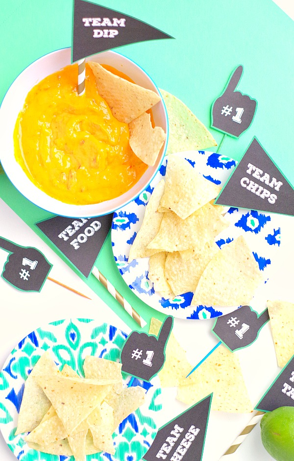 Funny Free Printable Sports Party Food Labels and Toppers