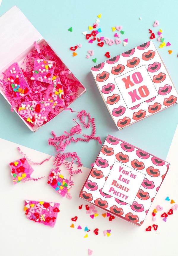 Free printable Valentine's box gifts